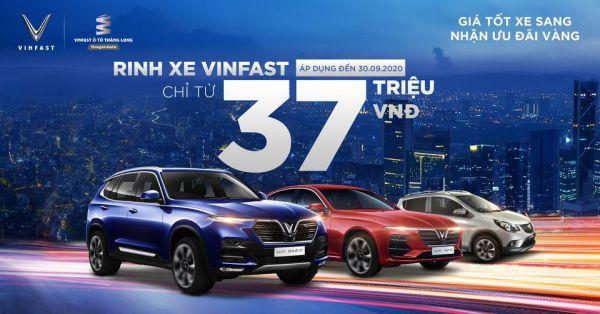 Giá tốt xe sang - Nhận ưu đãi vàng: Rinh xe VinFast chỉ từ 37 triệu